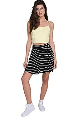 Ardene - Women's - Striped Skater Mini Skirt
