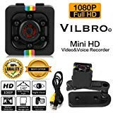 Portable Mini Hidden Spy Surveillance 1080p HD Recording Camera Motion Detection and Night Vision Indoor and Outdoor Use – Best for Nanny, Security, Home, Sports, Office, Car – WiFi Not Needed