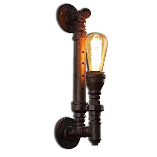 Rétro Eau Pipeline Tap Lampe Applique Industrielle Vintage Design Applique Métallique Fer Fixation Edison E27 Intérieur Décoratif Éclairage Direct Loft Lampe de chevet Couloir Balcon Bar