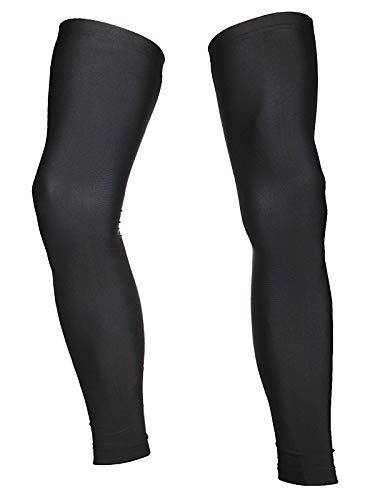 Actcure サイクル レッグカバー UVカット99% UPF50+ 滑り止め付き (L, 黒)