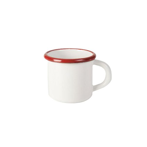IBILI 909408 Gobelet, Aluminium, Blanc/Rouge, 8 cm