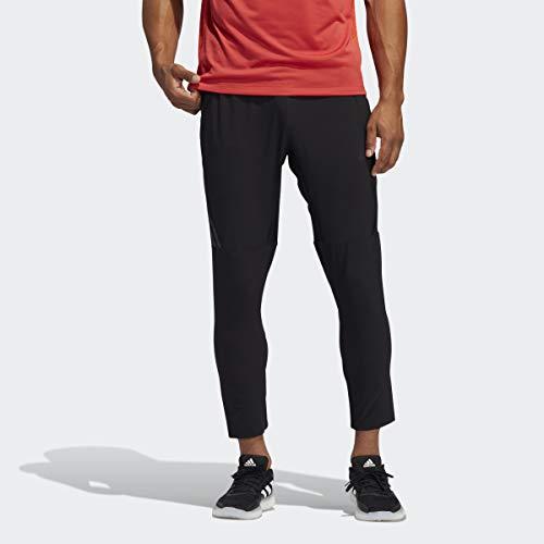 adidas AEROREADY - Pantalones de 3 Rayas para Hombre, Hombre, Pantalones, GLC00, Negro, Large