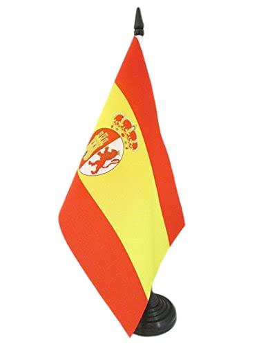 AZ FLAG Bandera de Mesa de la RESTAURACIÓN BORBÓNICA EN ESPAÑA 1785-1931 21x14cm - BANDERINA de DESPACHO ESPAÑOLA Antigua 14 x 21 cm