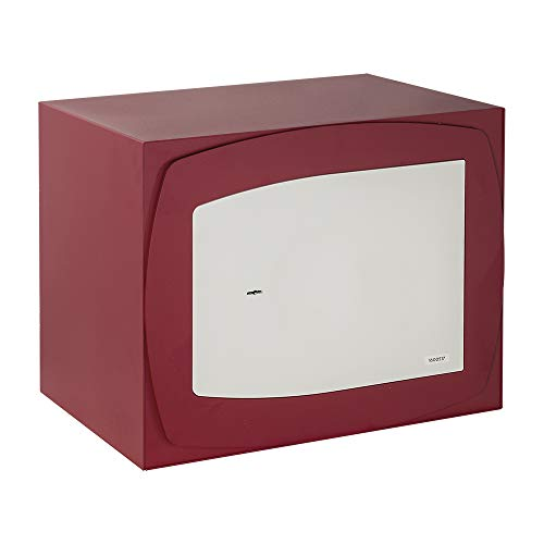 FAC 44033 Caja Fuerte, Beige Y Granate, Mediano