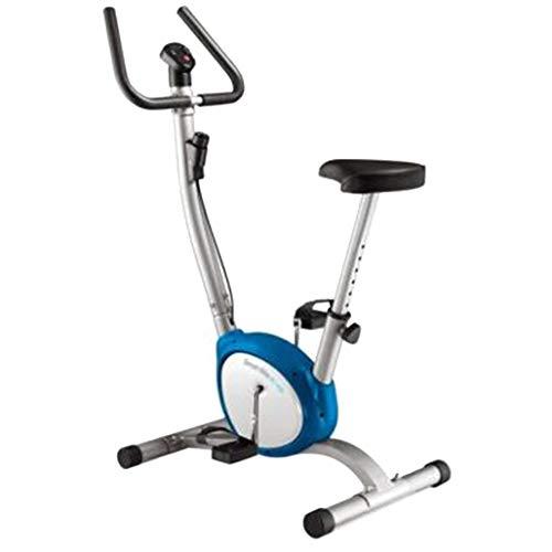 DPPAN Bicicleta Estática Plegable, Bicicleta De Ciclismo Interior Plegable Sillín Ajustable Bicicleta Fitness Conpantalla LCD, Pulsómetro para El Hogar Bicicleta De Spinning,Blue_Non-Magnetic Control