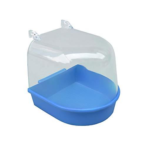NIBESSER Vogelbadehaus Badehaus für Vögel Badehaus passend für die Vögel Blau Vogelbadehaus