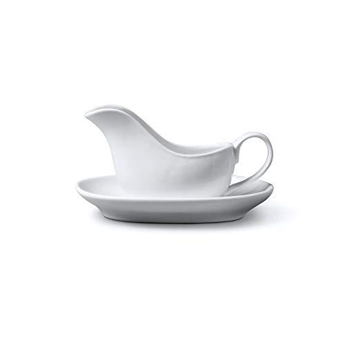 WM Bartleet & ‿Sons 1750 T421 Mini bateau à sauce traditionnel en porcelaine Blanc 114 ml