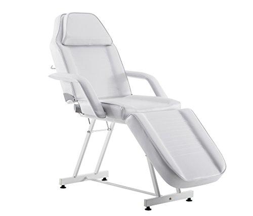 BarberPub Kosmetikliege Therapieliege Massageliege Tattooliege KosmetikStuhl Schönheitsausrüstung (Weiß)