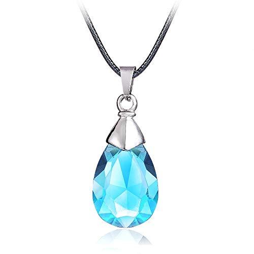 Cristal Azul Corazón Colgante Cosplay Accesorios joyería Caliente Animado Sao Sword Art Online Metal Collar de Yui Puede Gota-envío