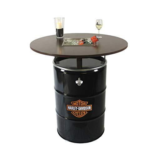 Rogge´s RelaxGrill Partytisch Edition – Stehtisch mit integriertem Getränkekühler – Biertisch, Gartentisch, Ölfass-Tisch