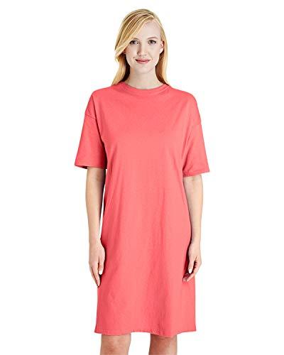 Hanes Women's Wear Around Nightshirt, Charisma Coral, One Size