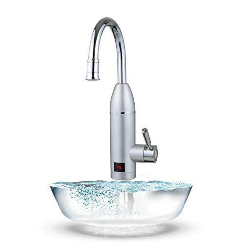 Elektrischer Wasserhahn Sofort Heizung Durchlauferhitzer Armatur mit digitale Wassertemperaturanzeige 3000W