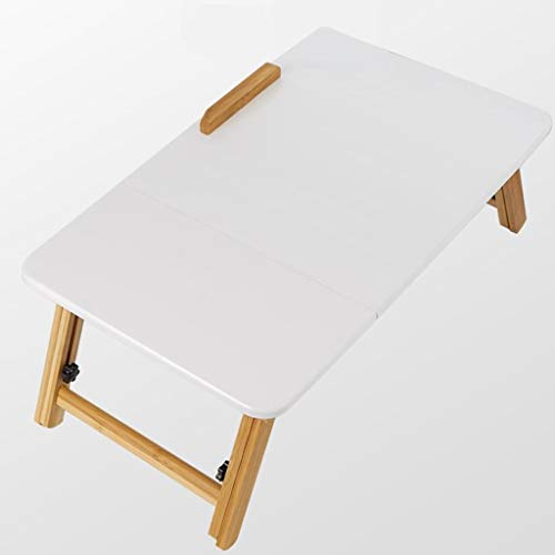 DNSJB kleine koffie Side bijzettafel eenvoudig schrijven laptop bed bureau bamboe studenten, (kleur, 55x35cm hoog)