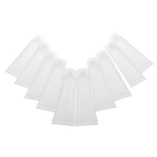 Gazechimp 10pcs 30ml Vide Flacon Rechargeable Echantillons Tubes Plastique Récipient pour Produits Cosmétiques Shampooing Lotion Crème Dentifrice.