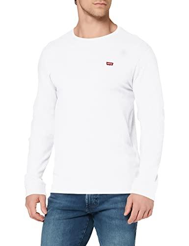 Levi's Original Hm tee Camiseta, LS Cotton + Patch White, L para Hombre