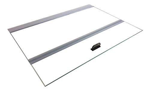 H2Pro Glass Canopy 2 Piece Set for Aqueon All Glass 75/90/110 Gallon 48x18 Aquarium Fish Tank (Each Piece Measure 22.08 x 16.57 x 0.16in)