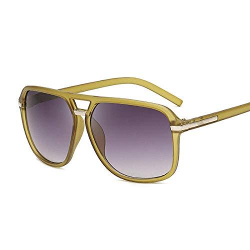 IRCATH Gafas de Sol de Gran tamaño para Mujer, Montura Cuadrada a la Moda, Gafas de Sol para Hombre y Mujer, Espejo Degradado para Conducir, se Puede Utilizar para Pesca de Golf-C2