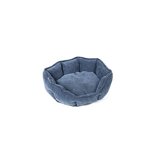 Pet Dog Beds for Large Dogs House Thick Warm Sofa Kennels Round Pillow Large Dogs Cat House Soft Beds Mat 2 Color 3 Size Cushion,Grey,S