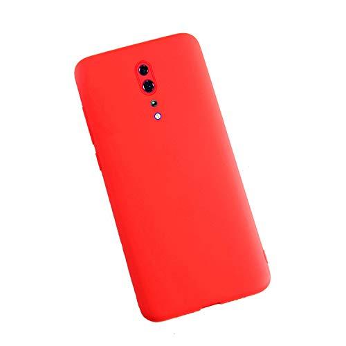 XunEda Cover Custodia per Oppo Reno Z Ultra Sottile Custodia in Silicone Liquido Cover Protettiva Antiurto Case Cover per Oppo Reno Z Smartphone(Rosso)