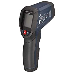 AmazonCommercial Heavy Duty Infrared Thermometer with circle laser, Double mould, Type K Probe, Adjustable Emmissivity