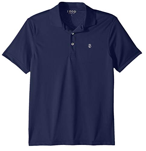 IZOD Men's Performance Golf Grid Polo, Peacoat Legacy 1, X-Large
