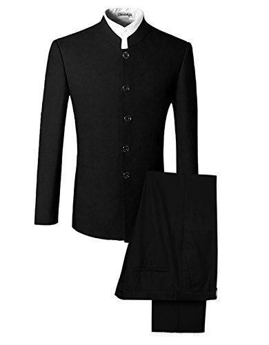 Herren Hochzeitsanzug Stehkragen Anzug Herren Gehrock Medium