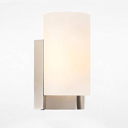 Nordic LED Lámpara de pared de cristal de hierro forjado Moderno pasillo lámpara de la sala de estar Dormitorio Lámpara de cabecera Cafe Lámpara de pared Iluminación