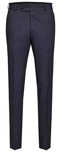 Wilvorst Hose zum Hochzeitsanzug, dunkelblau in einem Galaglencheck, Drop8, Super-Slimline Größe 98