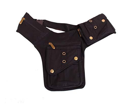 SugarShock Fine49 Bumbag Damen Bauchtasche Ketina Gürteltasche Crossbag, Farbe:Schwarz, Größe:onesize