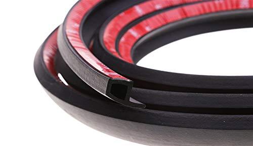 FFLSDR P Type Car Door Rubber Seal Strip Noise Insulation Car Door Sealing Strip Weatherstrip Anti-dust Rubber Door Seals (Color : 8 Meters)