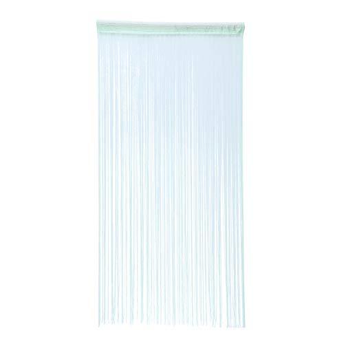 Vosarea - Tenda a fili per porta finestra, per camera e soggiorno, colore: Verde chiaro