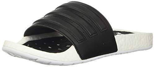 adidas Unisex-Adult Adilette Boost Slide Sandal, White/Core Black, 10 M US