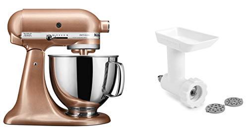 KitchenAid KSM150GBQTZ Artisan Tilt-Head Stand Mixer with Food Grinder Attachment, Toffee Delight