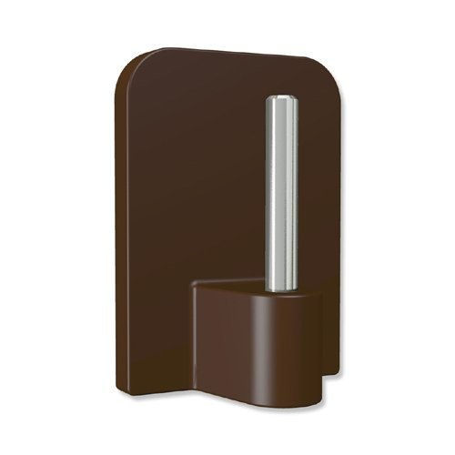 INTERDECO Klebehaken mit Metallstift, selbstklebend in Braun für Vitragestangen (12 Stück)