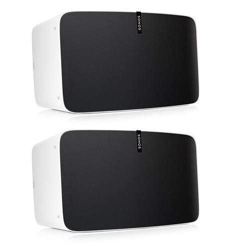 Sonos Play:5 – Ultimate Wireless Smart Speaker for Streaming Music. Works with Alexa. (White) and Cat-6 Ethernet Patch Cable - 5 Feet (1.5 Meters)