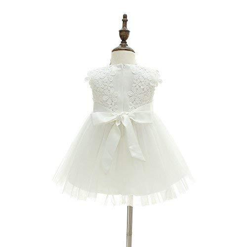 Vestido de fiesta para niña, para cumpleaños, bodas, bautizos Blanco blanco 12 Meses/12-16 Meses