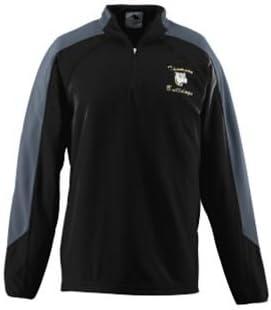 Adult Micro Fleece Half-Zip Pullover - BLACK AND GRAPHITE - 3XL