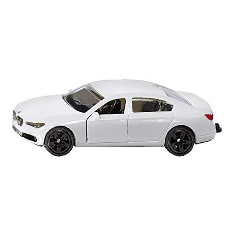 SIKU 1509, BMW 750i, Metall/Kunststoff, Weiß, Spielzeugauto für Kinder, Öffenbare Türen, Anhängerkupplung