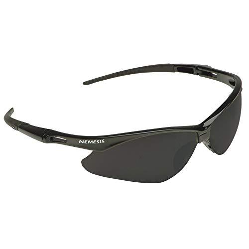 Nemesis Safety Glasses 25688 (3000356), Smoke Mirror with Black Frame, 12 Pairs/Case