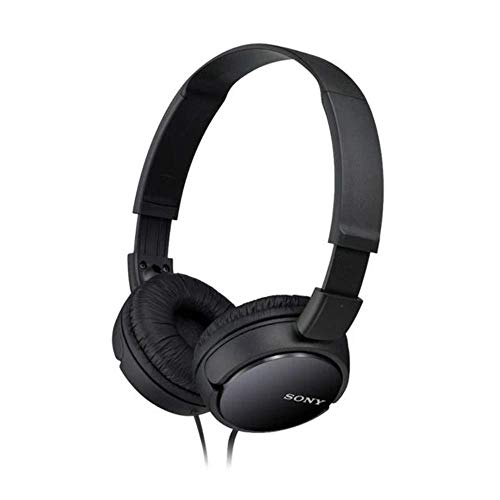 Sony MDRZX110B.AE Lightweight Foldable On-Ear Headphones Compatible with Smartphones, Tablets, Laptops, and MP3 Devices - Black