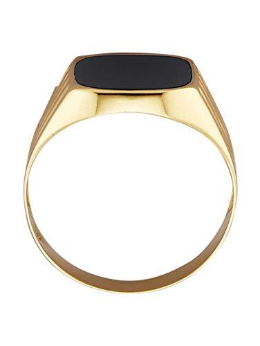 KLiNGEL Herren 333 Gelbgold Ring in Schwarzmit Onyx in Schwarz und in und in