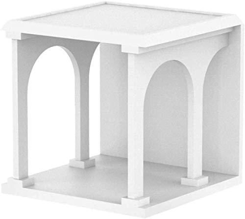 HTL Armarios útiles Mesa de noche Mesa de noche Mesa de café Mesa auxiliar,blanco,45 * 45 * 45cm