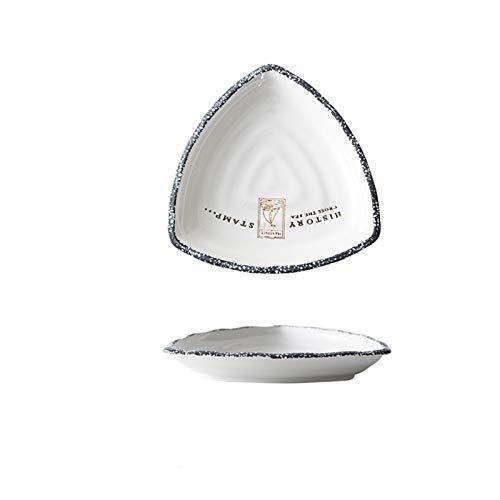YSJSPOL Plato de Cena Placa Creativa en Forma de Placa de cerámica de cerámica de cerámica Placa de Desayuno nórdicos Personalidad Placa de Placa de Fruta vajilla Occidental (Color : 2)
