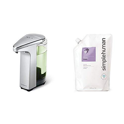 simplehuman 8 oz. sensor soap pump with 34 oz. lavendar soap refill pack