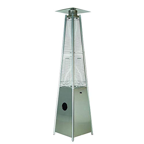 LEGACY HEATING Quartz Galss Tube Patio Heater, Visual Flame Heater 40000BTU (Stainless Steel)