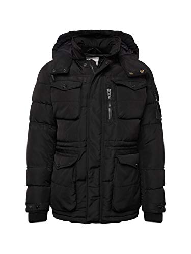 JACK & JONES Herren Winterjacke schwarz XL