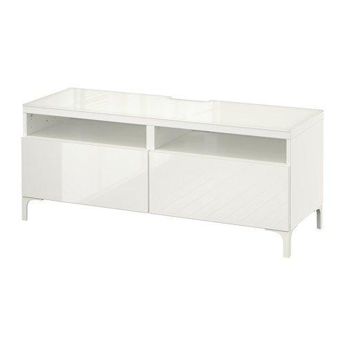 Ikea BESTÅ TV lades, wit, Selsviken hoogglans/wit 8202.292617.1434