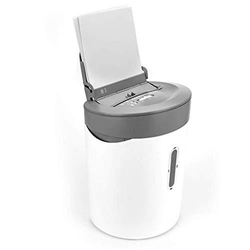 SCDFDJ Bürobedarf Automatische Shredder Querschneiden Zerstören Kreditkarte Kapazität 21L mit Destroying CD/Kreditkarten, 5-Blatt Schreddern Kapazität, Weiss