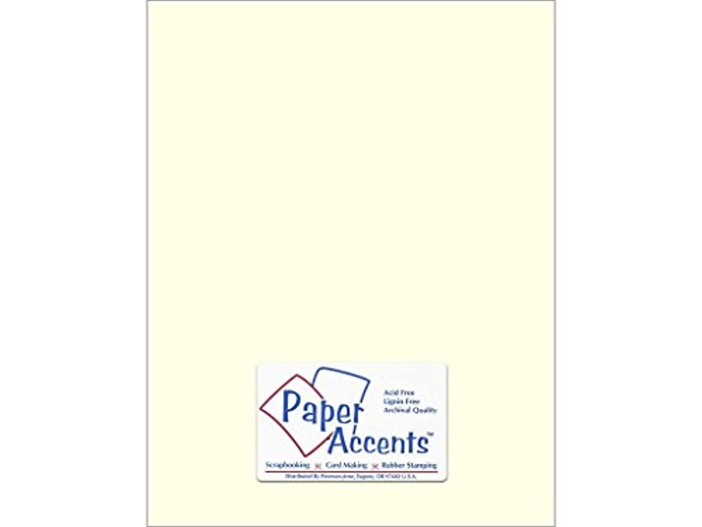 Accent Design Paper Accents Cdstk Smooth 8.5x11 80# Eggshell