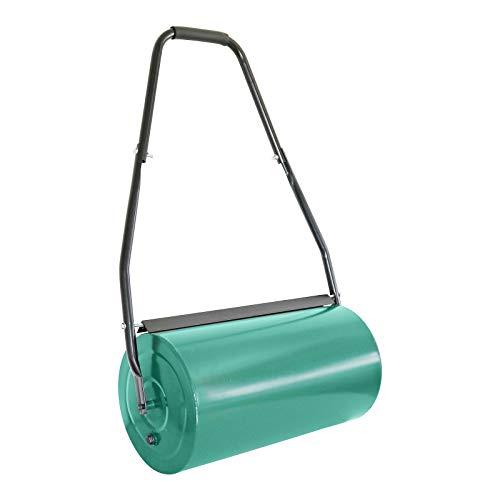 Grafner XXL Rasenwalze 66 cm Arbeitsbreite, befüllbar mit Sand oder Wasser bis zu 80 kg, Durchmesser 32 cm, stabile Ausführung mit Abstreifern und Softgriff, Handwalze Rasenroller Walze